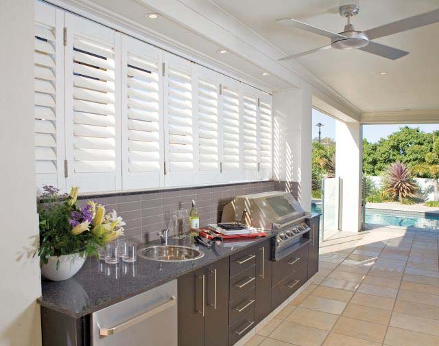 Aluminium shutters outdoor