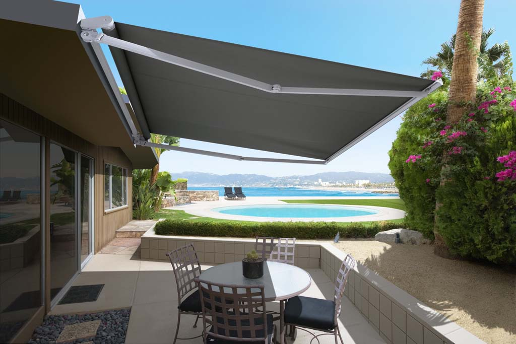 Luxaflex Ventura Folding Arm poolside awning