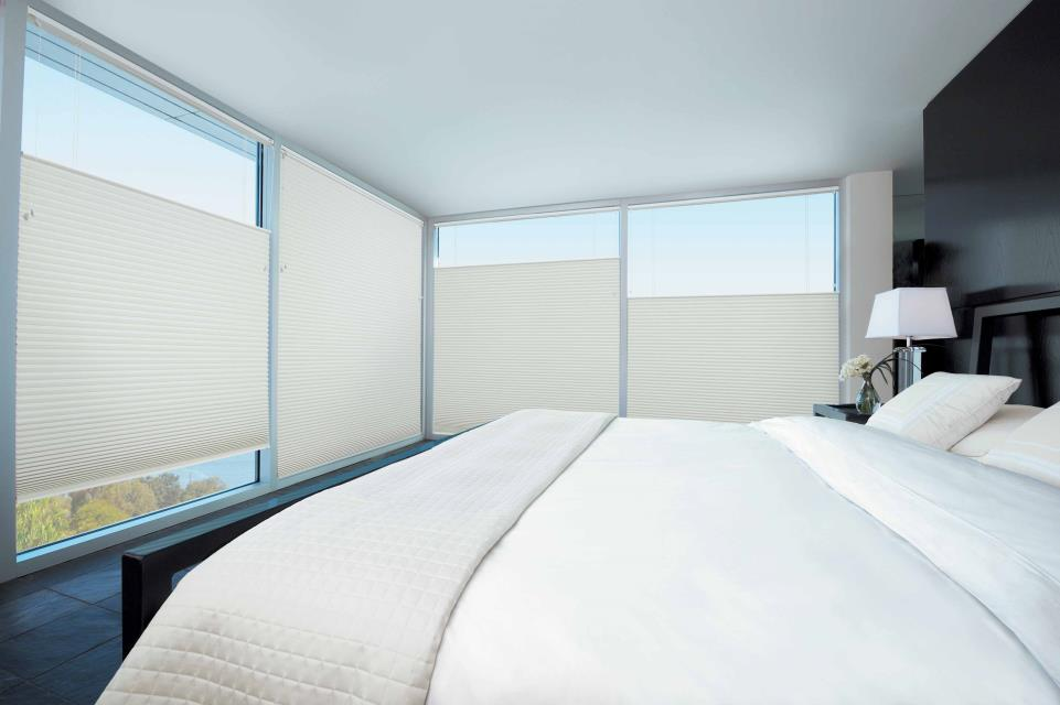 Duette shades bedroom