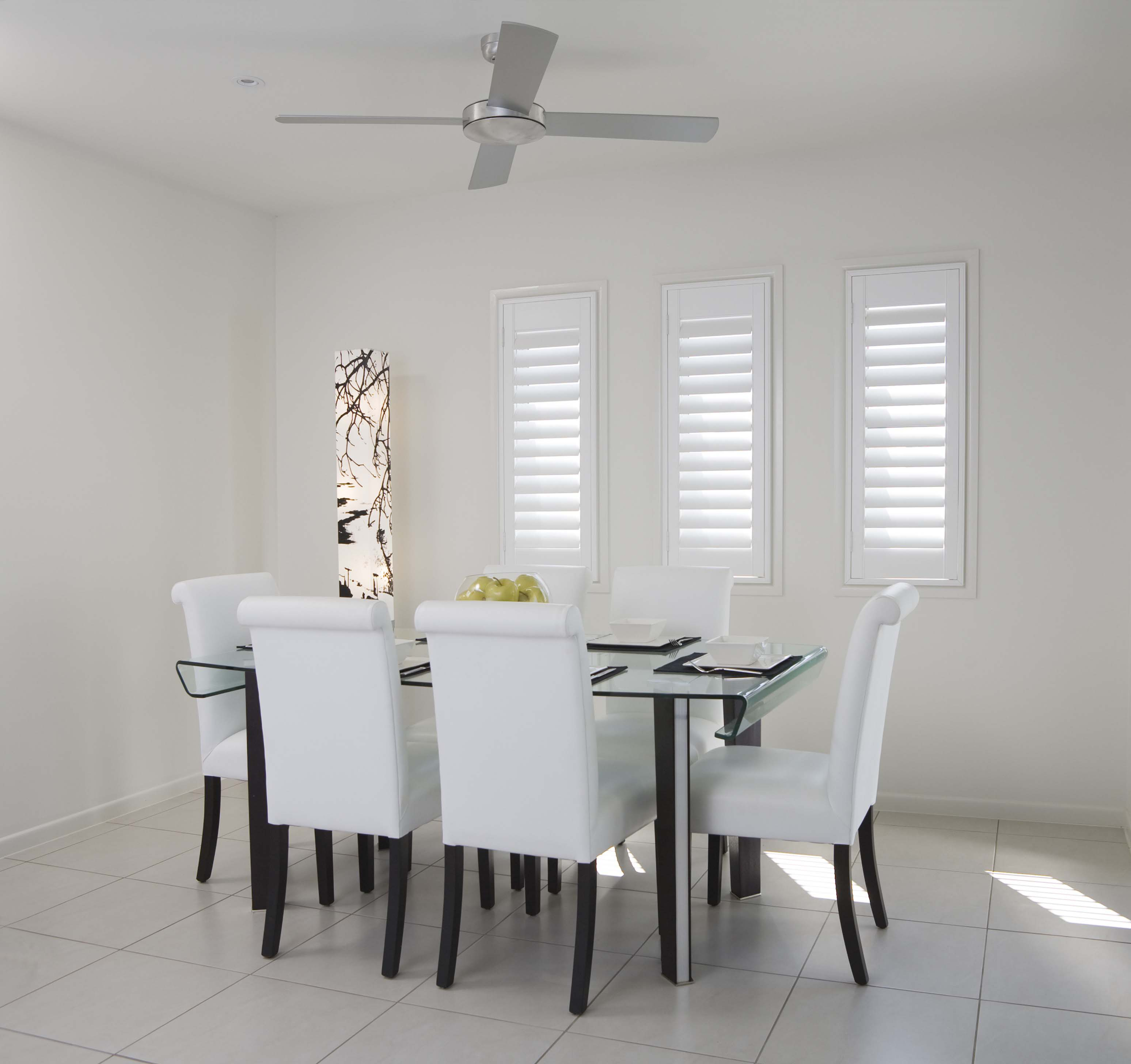 Hardwood timber shutters white
