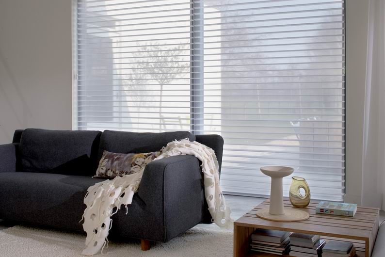 Luxaflex SoftShades Silhouette Shades living area