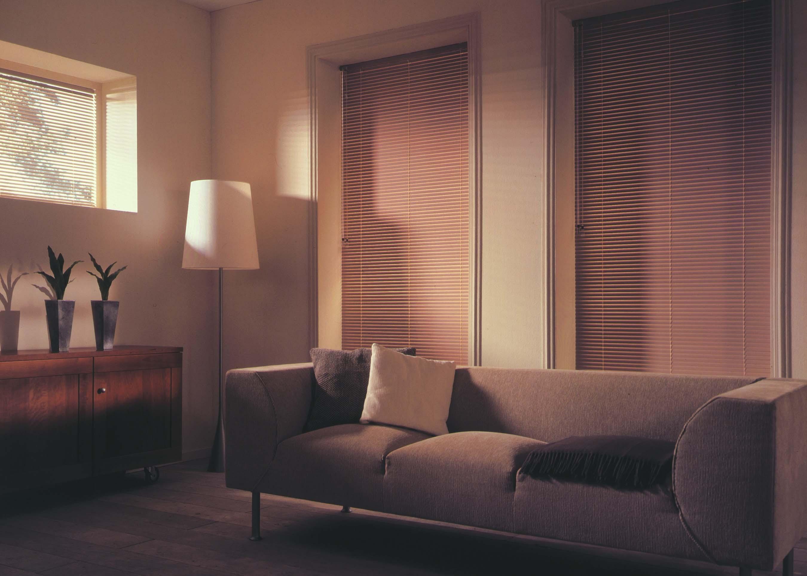 New York Venetian blinds closed for darker room