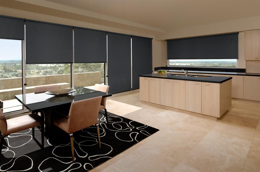 Custom blinds roller black