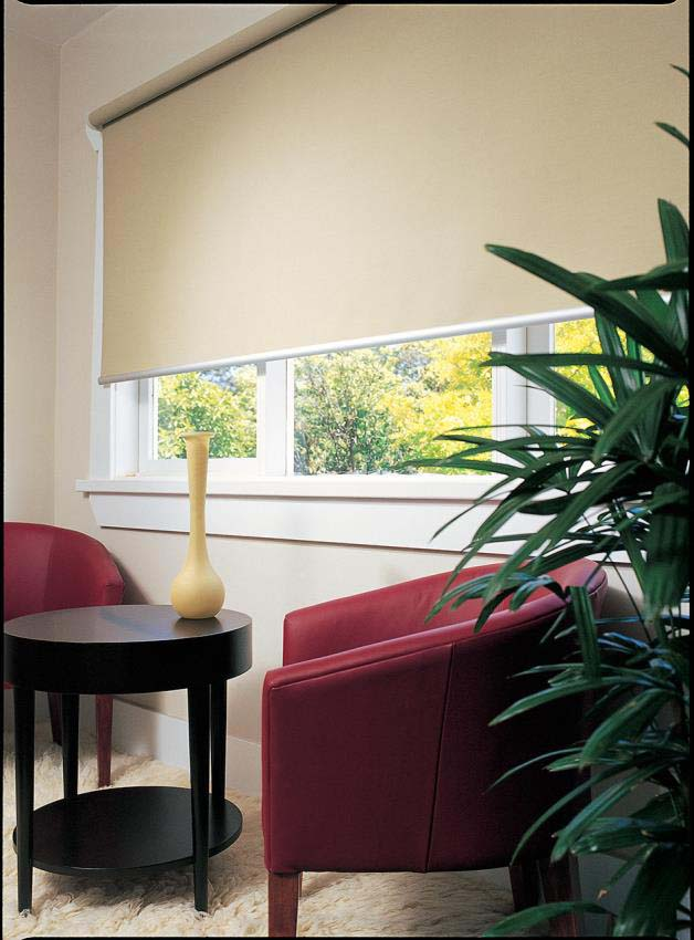 Blockout roller blinds off white