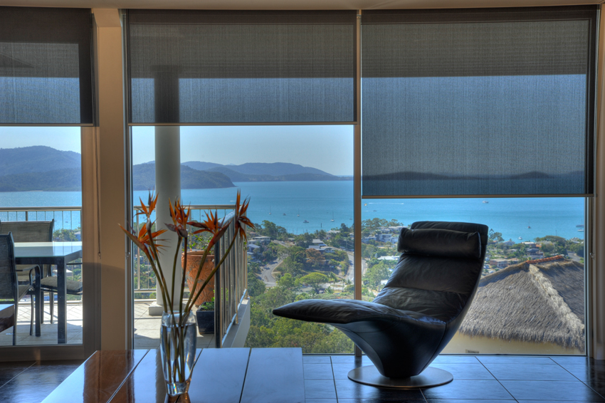 Motorised blinds with a view