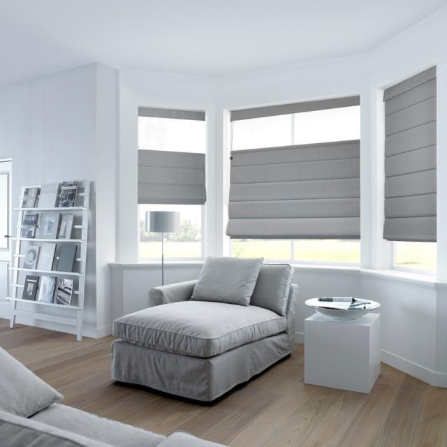 Roman fabric blinds
