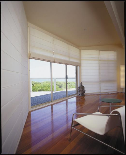 Roman blinds and shades beach