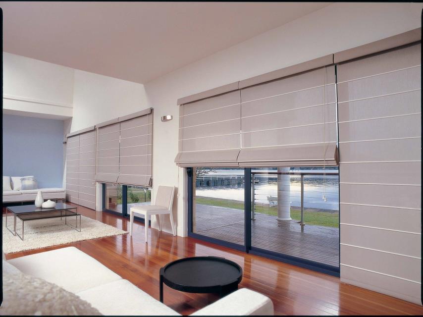 Roman blinds shades