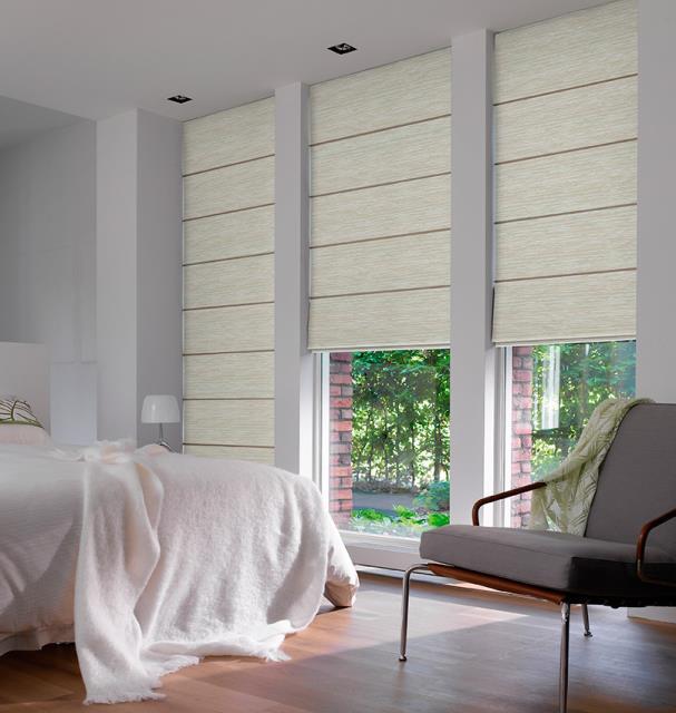 Fabric roman blinds shades