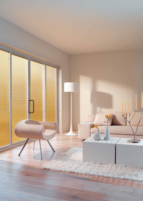 Aluminium Venetian blinds neutral colours