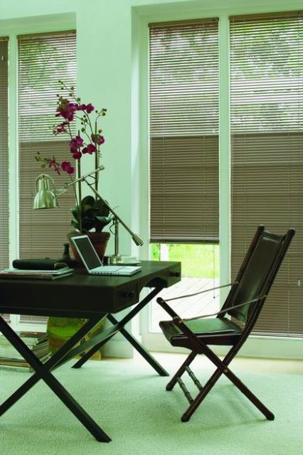 Aluminium Venetian Blinds in an office