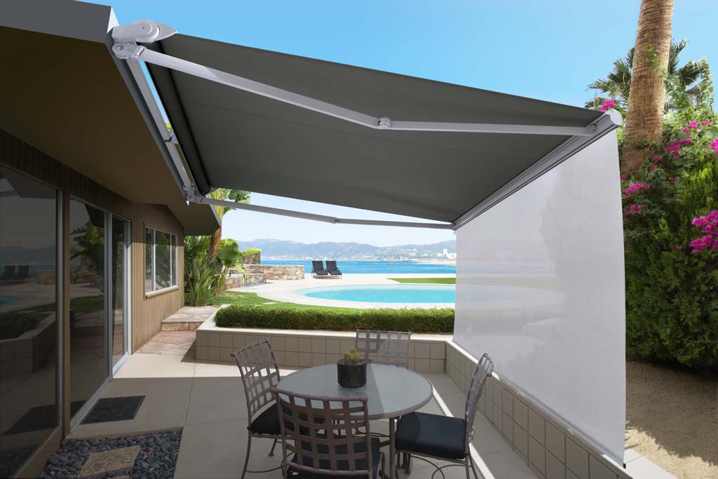 Luxaflex Ventura Awnings folding arm open