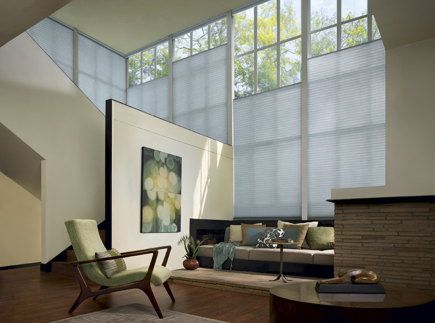Luxaflex Duette Shades in a lounge room