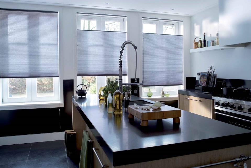 Luxaflex Duette Shades in a kitchen