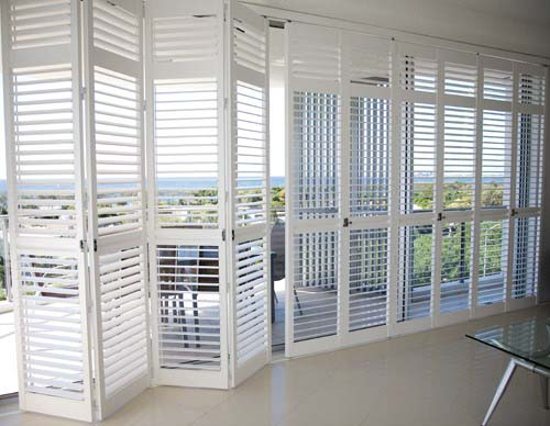 Polysatin shutters full wall