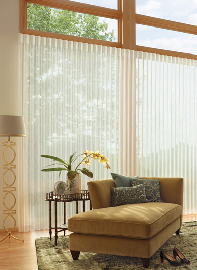 Luxaflex Privacy Sheers Luminette with lounge