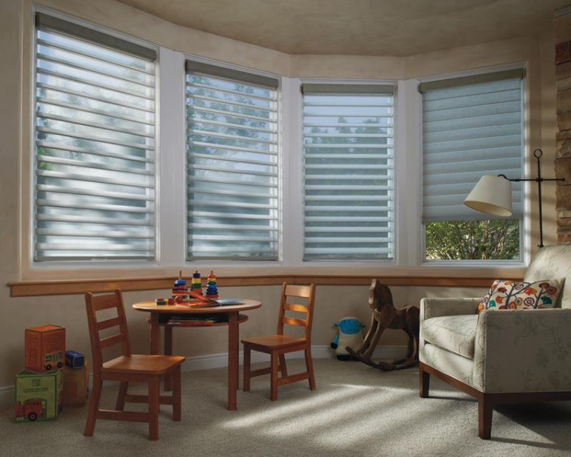 Luxaflex SoftShades Silhouette Shades kids room
