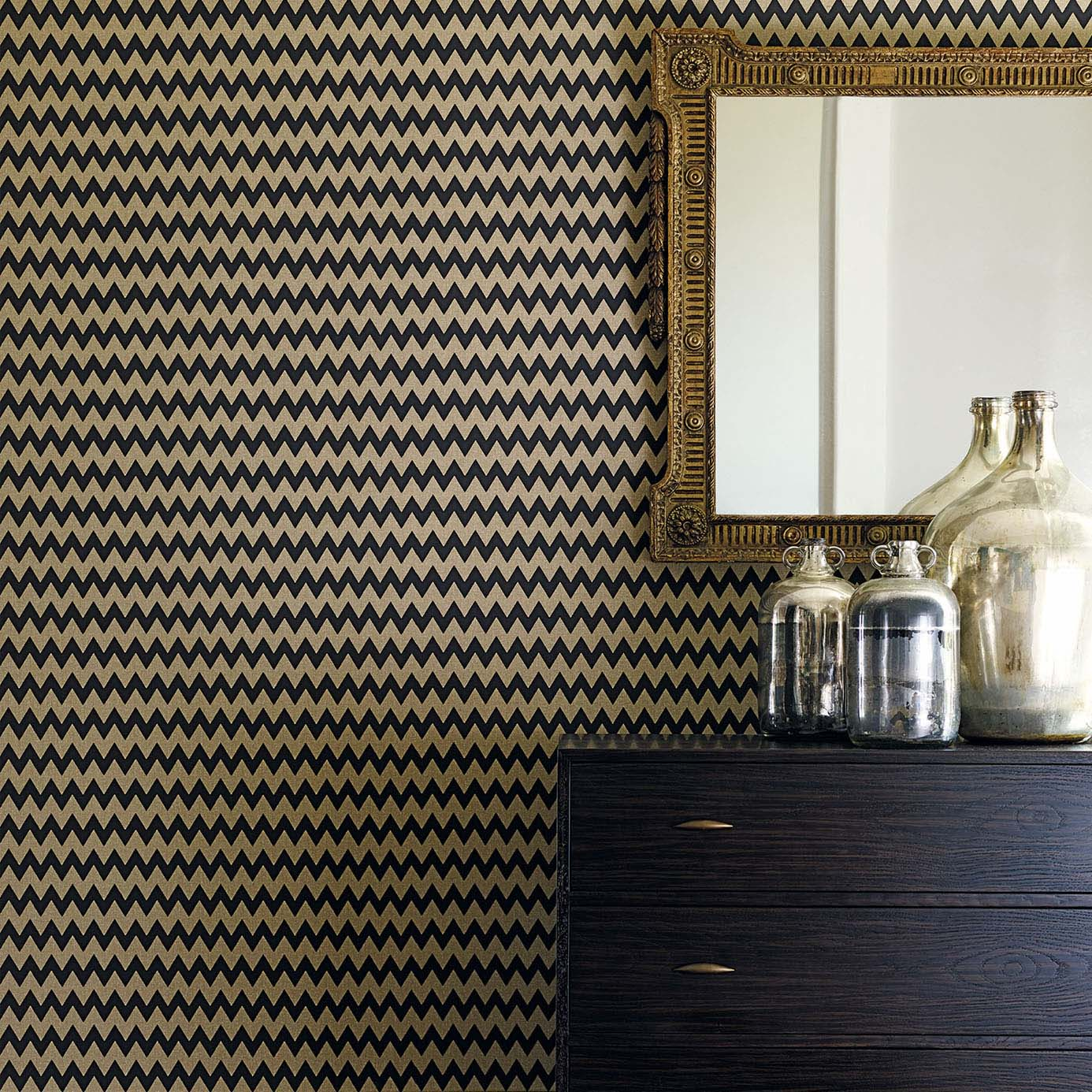 Accessories with wallpaper and furnishings