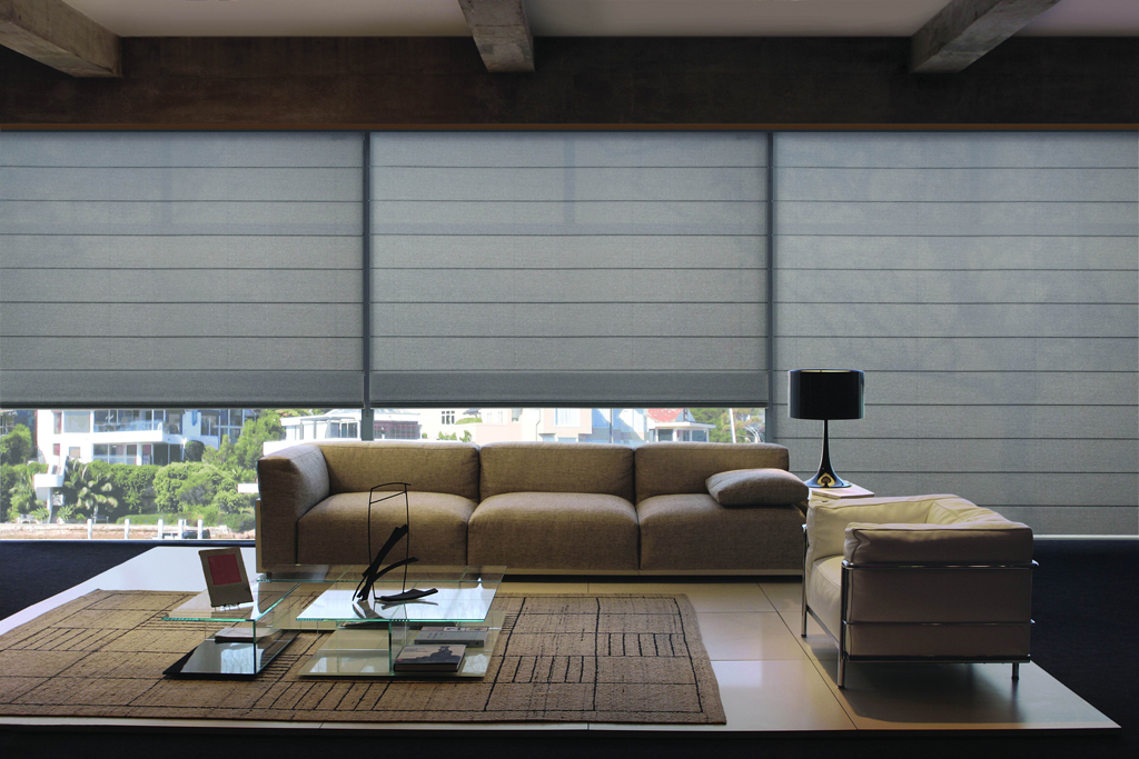 New Product Luxaflex Modern Roman Shades Decorating Decor Interiors
