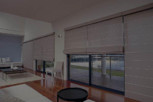 Off white Roman blinds