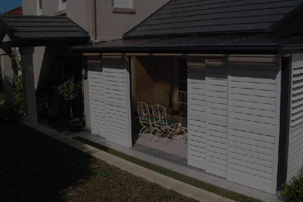 Shutters to protect your outdoor furniture