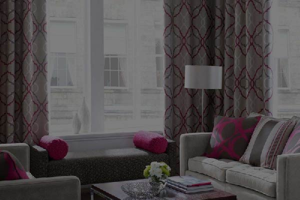 Thermal insulated curtains to regulate heat inside the living room