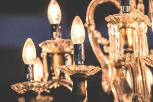 Metallics and brass in interior decor