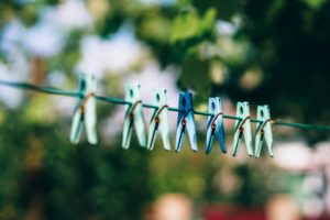 Clothes line to dry clothes is an easy way to live sustainably at home
